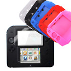 Внешний вид - Soft Silicone For Nintendo 2DS Screen Rubber Skin Case Cover Crystal Clear US