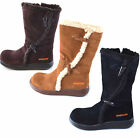 Rocket Dog Slope Boots 5 Colours Suede Calf Length Leather Boots Cozy Fur Lining