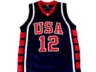 Amare Stoudemire #12 Team USA New Men Basketball Jersey Navy Blue Any Size