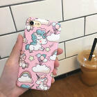 Cartoon Unicorn pc plastica rigida opaca custodia cover per iPhone 6 6S 7 Plus