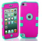 Hybrid Shockproof 3 in 1 Case Cover For Apple iPod Touch 5th &amp; 6th Generation <br/> *3 FREE GIFTS* FITS both iPod Touch 5G 6G 5th 6th Gen