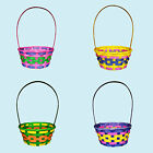 Easter Arts & Craft Bonnet Decorations Egg Hunt - Woven Wicker Basket