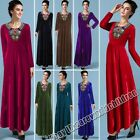 Autumn And Winter New Long-Sleeved Embroidered Long Dress Muslim Women's Clothes