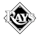 Decal Vinyl Truck Car Sticker - MLB Baseball Tampa Bay Rays on Ebay