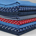 Double sided denim twill 100% Cotton Fabric per metre