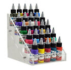 Clear Acrylic Tattoo Ink Small Display Stand 5-tier Rack Organizer Table Counter