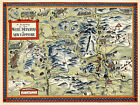 Pictorial 1960 Map White Mountains New Hampshire Wall Art Poster Print Decor