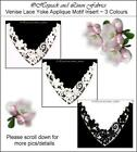 Job Lot 8 Bridal V Off White Neckline Venise Guipure Lace Dress APPLIQUE Motif