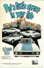 Ford Advertising Postcard - 1972 Red White and Blue Sprints.  Mustang