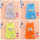 2PCS Toddler Baby Boys Summer Sets Vest / Pants Cotton Casual Sport Style Outfit