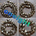 Hot!!! Charming 8mm 10mm 12mm 14mm Natural Pyrite Square Loose Beads