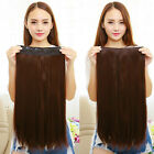 New Fashion Charming Women 60cm Long Straight Clip in Hair Extensions Hairpieces