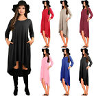New Women's Summer Long Sleeve Party Evening Cocktail Asymmetrical Hem Dress