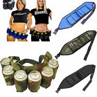 6 Pack Beer Coke Can Waist Belt Holder Carrier For Home Party Outdoor US Stock