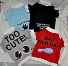 BEST DEAL Lot 4 NEW Small Puppy Dog T Shirt USA Funny Graphic Angel Bad Hair Day