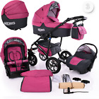 Baby Pram Buggy Newborn 3in1 Travel System Car Seat Stroller Pushchair Carrycot <br/> FREE DELIVERY &amp; RETURNS, FREEBIES