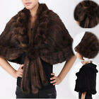 2017 Luxury Real Mink Fur Stole Cape Shawl Scarf Coat Wrap Luxury Warm Cape