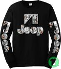 Jeep Snow Camo Camouflage Black Long Sleeve Shirt BUY ANY 2, GET 1 FREE TSHIRT