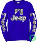 Jeep Snow Camo Camouflage Blue Long Sleeve Shirt BUY ANY 2, GET 1 FREE TSHIRT