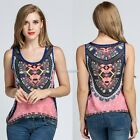 Women Ladies Sleeveless Chiffon Tank Tops Vintage Style Loose Casual Tops N98B