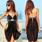 Women One-piece Sexy Hollow-out Lady Swimsuit Swimdress Swimwear Coattails N98B
