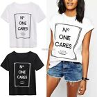 New Fashion Womens Summer Tops Loose Tee Short Sleeve T shirt Casual Blouse N98B