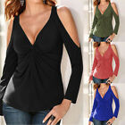 Fashion Women's Loose Long Sleeve Casual Cotton T-shirt Blouse Tops Summer Shirt