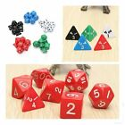 7pcs Mixed Color Set Gaming Dices Games Multi Sides Dice Game Playing Tools