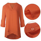 Women's Lady V-neck Loose Long Sleeve Casual Blouse Shirt Tops Fashion