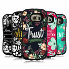 HEAD CASE DESIGNS FLORAL VERSES HYBRID CASE FOR SAMSUNG PHONES
