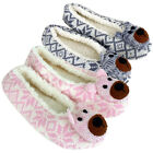 Womens Animal Bear Furry Mule Slipper Ladies Warm Novelty Gift Slippers Size 3-8