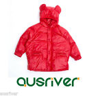 New Boys Kids Child 2-7 Winter Warm Duck Down Padded Quilted Coat Jacket Red