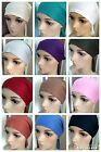 LADIES HIJAB BONNET CAPS CHEMO HAIR LOSS HAT HIJAB UNDERSCARF WITH TIES