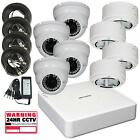 4Ch Hikvision DVR, 4 x 720p 2.8-12mm, 40m IR Turret Domes with deep base option