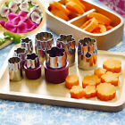 8Pcs Flawor Cookie Cutters Mold Geometry Embossed Crisp Biscuits Cooking Tool JR