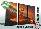 """Night Golden Gate Bridge, Canvas Print, Huge Sizes up to 60""""x40"""", Ready to Hang"""