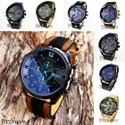 Men's Fashion Luxury Watch Stainless Steel Leather Band Sport Wristwatches