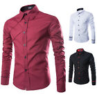 New Mens Luxury Long Sleeve Shirt Casual Slim Fit Stylish Dress Shirts Tops Lot
