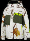 FXR Youth Child Realtree AP Snow/Olive Snowmobile Youth Child Squadron Jacket