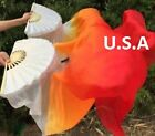 Belly Dance Silk Fan Veils 100 18m Top Quality USA Store Quick Shipping