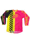 NEW TROY LEE DESIGNS GP AIR BOLT MX JERSEY FLO YELLOW/PINK ALL SIZES
