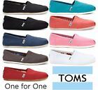 Toms Classic Canvas Womens Slip On Shoes Authentic ORIGINAL
