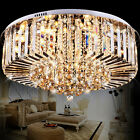 Modern Colour-Changing K9 Clear Crystal Chandelier Light Ceiling Lamp Pendant UK