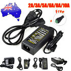 AU Plug 2A 5A 6A 10A 12V DC Power Supply Charger Adapter 3528 5050 RGB LED Strip