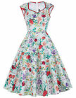 Vintage Housewife Retro 50s 60s Swing Evening Party Pinup Skaters TEA Prom Dress