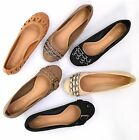 NEW Women's Flats Casual Summer Shoes Round Toe Slip On Ballet Faux Leather