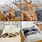 CUTE COMFY CAT IN SHADES STAG MINK FAUX FUR SOFT BLANKET FLEECE THROW NEW