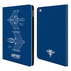OFFICIAL STAR TREK SHIPS OF THE LINE TNG LEATHER BOOK WALLET CASE FOR APPLE iPAD