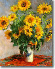 HUGE Monet Bouquet of Sunflowers Stretched Canvas Giclee Art Repro ALL SIZES