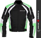 Buffalo Misano Green Textile Motorcycle Armoured Jacket Mens Scooter Commuter